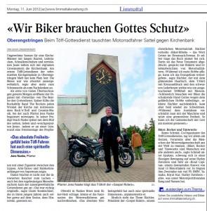 Töffgottesdienst Oberengstrigen Limmattalerzeitung